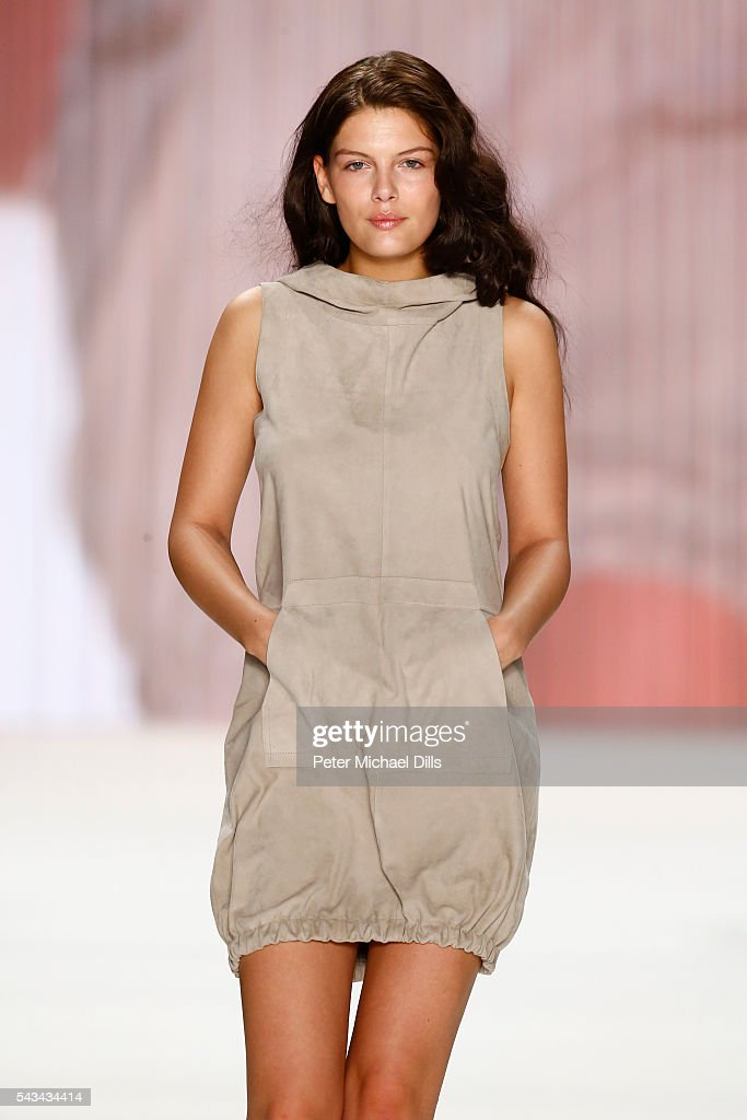 Model Vanessa Fuchs walks the runway at the Riani show during the Mercedes-Benz Fashion Week Berlin Spring/Summer 2017 at Erika Hess Eisstadion on June 28, 2016 in Berlin, Germany.