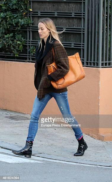 Model Vanessa Lorenzo celebrates her 38th birthday on January 7 2015 in Barcelona Spain