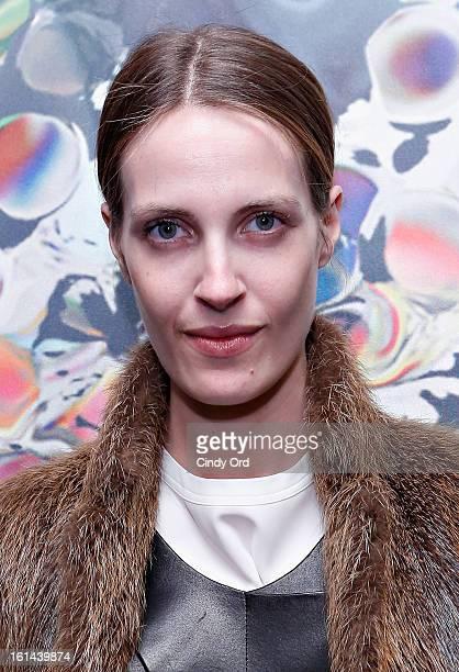 Model Vanessa Traina attends the Cynthia Rowley fall 2013 fashion show during MercedesBenz Fashion Week on February 10 2013 in New York City