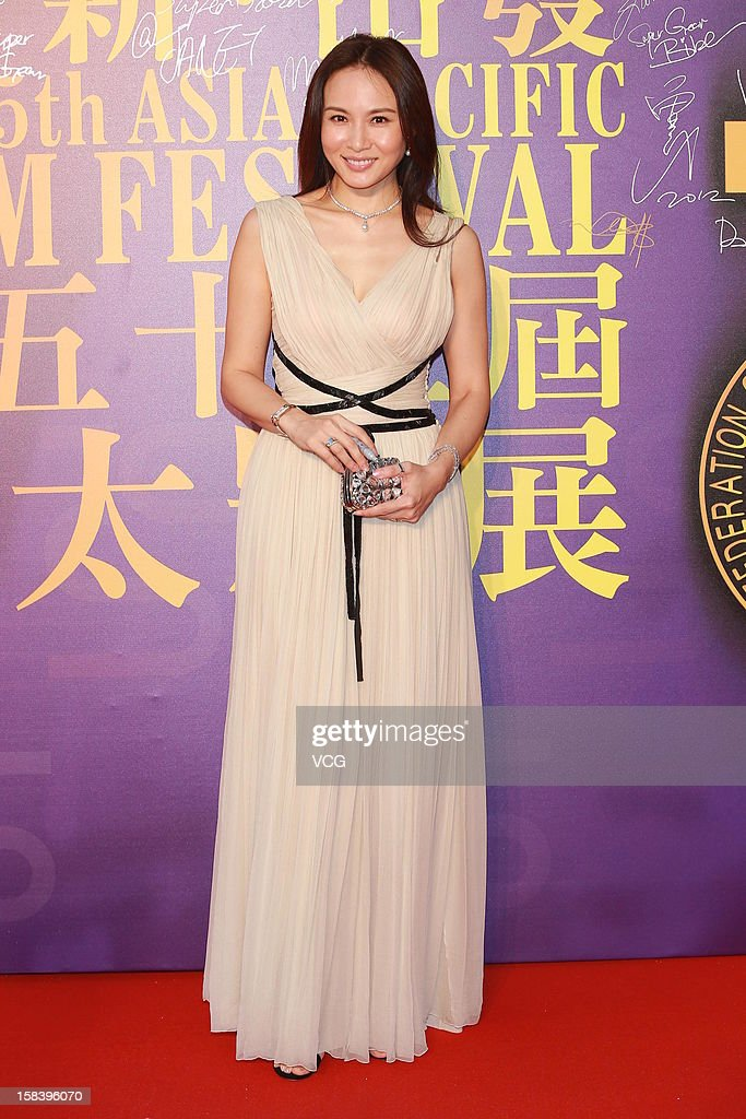 Model Vanessa Yeung arrives at the red carpet of the 55th Asia-Pacific Film Festival at Venetian Macao Resort Hotel on December 15, 2012 in Macau, Macau.