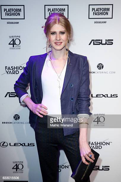 Model Veit Alex attends the Fashionyard show during Platform Fashion January 2017 at Areal Boehler on January 29 2017 in Duesseldorf Germany