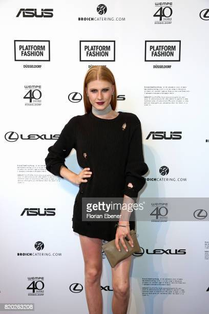Model Veit Alex attends the Studio Rundholz show during Platform Fashion July 2017 at Areal Boehler on July 21 2017 in Duesseldorf Germany