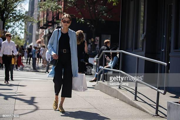 Model Vera Van Erp outside the Rodarte show on September 13 2016 in New York City