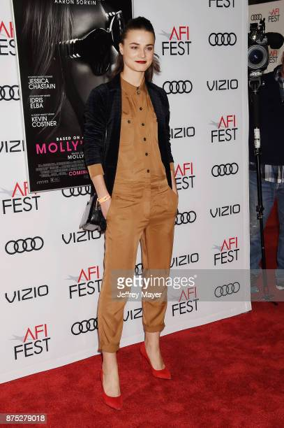 Model Veranika Irbis attends AFI FEST 2017 Closing Night Gala Screening of 'Molly's Game' at TCL Chinese Theatre on November 16 2017 in Hollywood...