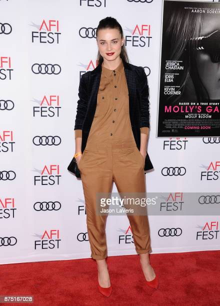 Model Veranika Irbis attends the closing night gala screening of 'Molly's Game' at the 2017 AFI Fest at TCL Chinese Theatre on November 16 2017 in...