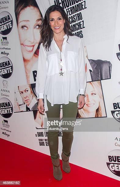 Model Veronica Hidalgo attends 'Buena Gente' premiere at Rialto theatre on February 19 2015 in Madrid Spain