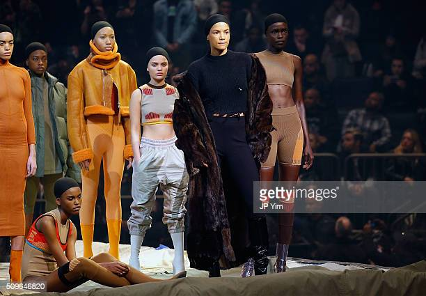 Model Veronica Webb appears onstage during Kanye West Yeezy Season 3 on February 11 2016 in New York City