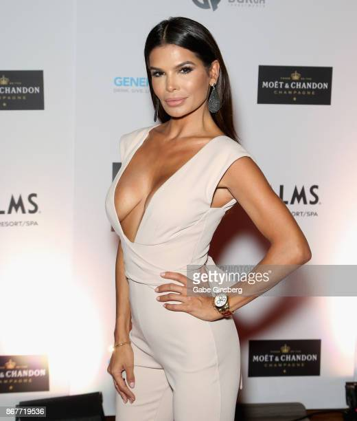 Model Victoria Barbara attends the Worldwide Cover Model Inc photography and modeling red carpet event at The View at Palms Casino Resort on October...