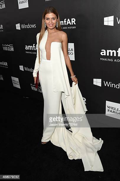 Model Victoria Bonya attends amfAR LA Inspiration Gala honoring Tom Ford at Milk Studios on October 29 2014 in Hollywood California