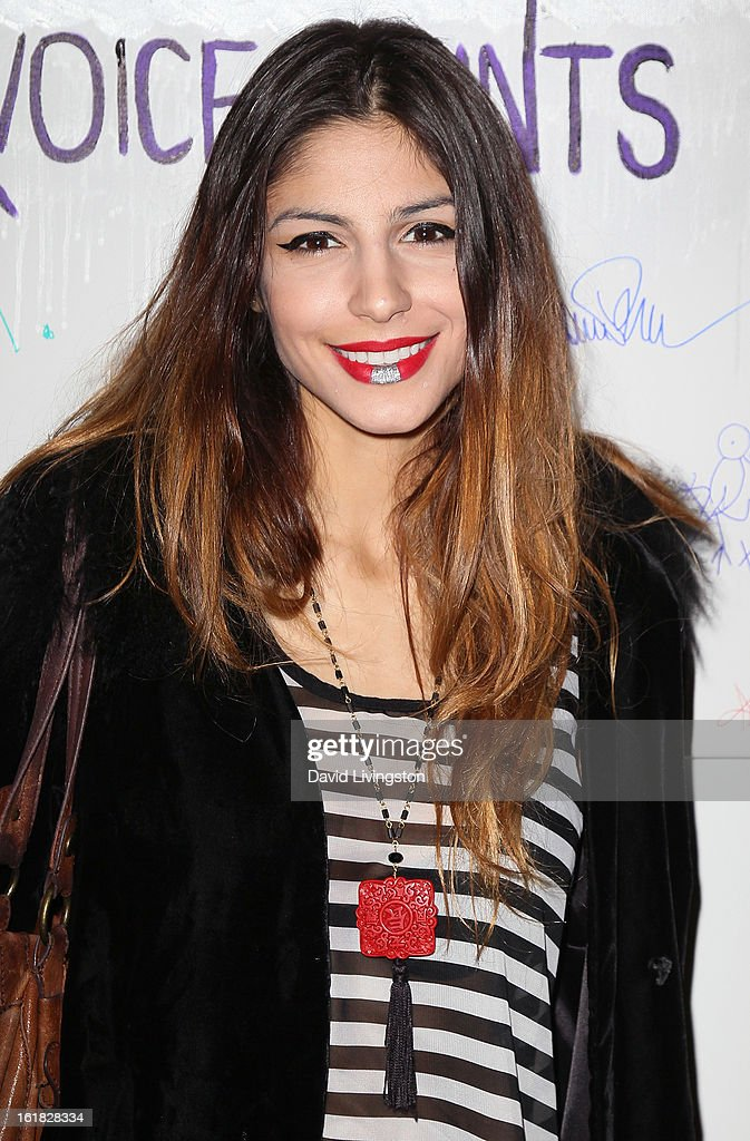Model Victoria Mordoch attends Linda's Voice joining with 'The Vagina Monologues' One Billion Rising Campaign at Voice's Unsilenced Live Art Auction at LAB ART on February 16, 2013 in Los Angeles, California.