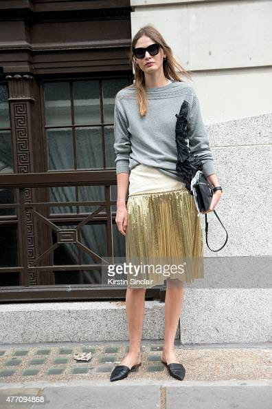 Model Victoria Sekrier on day 2 of London Collections Men on June 13 2015 in London England