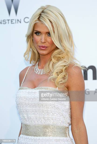 Model Victoria Silvstedt attends amfAR's 20th Annual Cinema Against AIDS during The 66th Annual Cannes Film Festival at Hotel du CapEdenRoc on May 23...