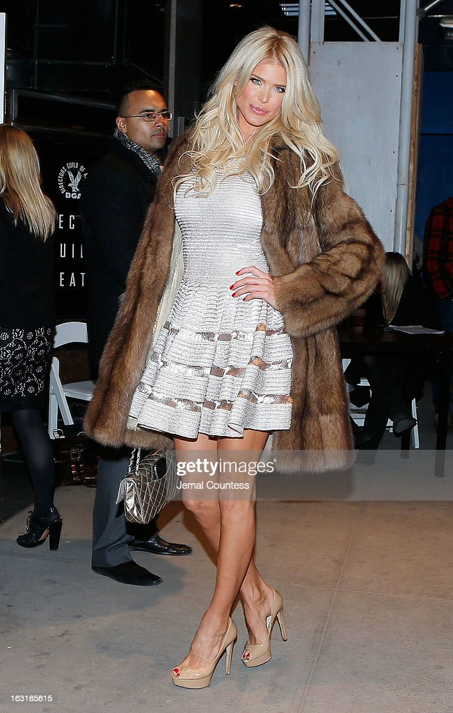 Model Victoria Silvstedt attends the Gucci and The Cinema Society screening of 'Oz the Great and Powerful' at the DGA Theater on March 5, 2013 in New York City.