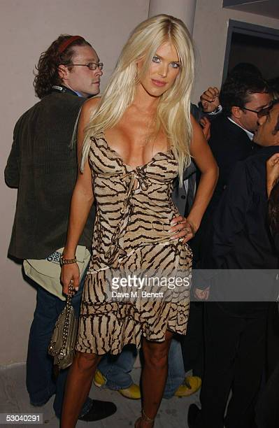 Model Victoria Silvstedt attends the launch of the new elite West End nightclub Movida at Argyll Street June 8 2005 in London England The new venue...