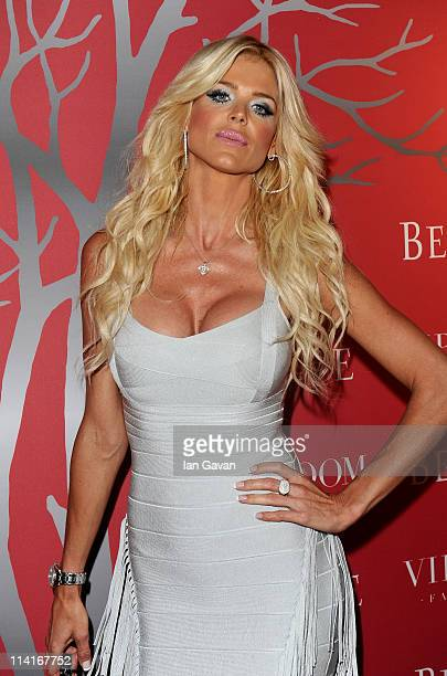 Model Victoria Silvstedt attends the RED party in Cannes to celebrate the European launch of RED featuring a performance by Duran Duran held at the...