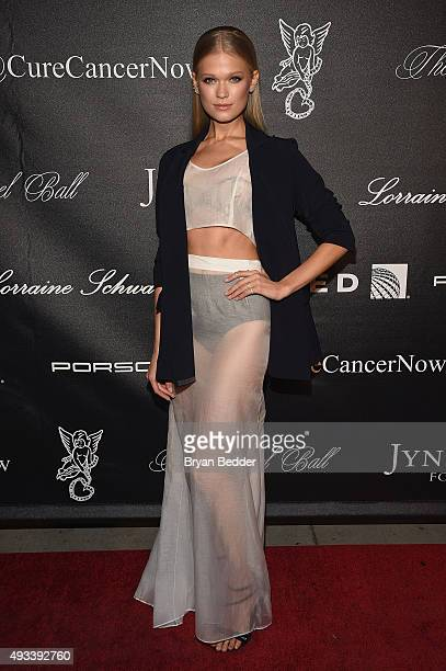 Model Vita Sidorkina attends Angel Ball 2015 hosted by Gabrielle's Angel Foundation at Cipriani Wall Street on October 19 2015 in New York City