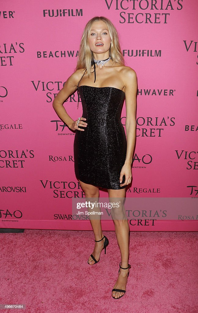Model Vita Sidorkina attends the 2015 Victoria's Secret Fashion Show after party at TAO Downtown on November 10, 2015 in New York City.
