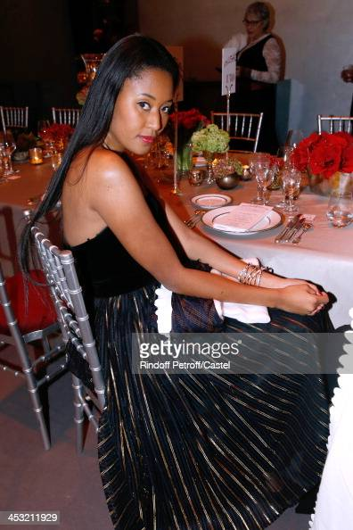 Model VV Brown attends 'Cartier Le Style et L'Histoire' Exhibition Private Opening at Le Grand Palais on December 2 2013 in Paris France