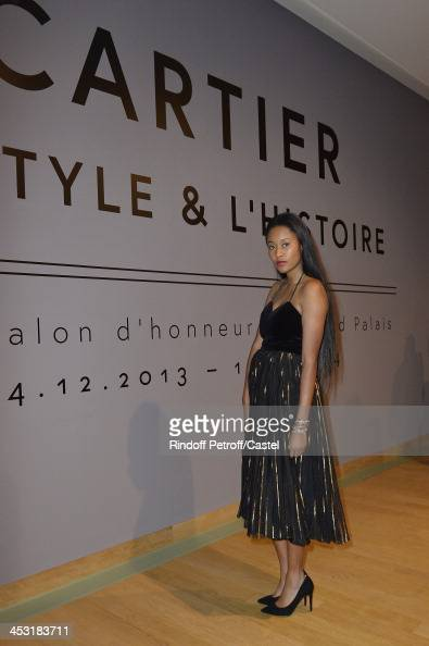 Model VV Brown attends the 'Cartier Le Style et L'Histoire' Exhibition Private Opening at Le Grand Palais on December 2 2013 in Paris France