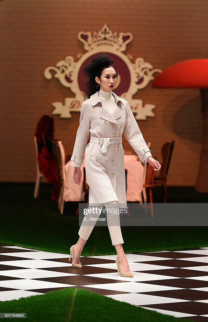 A model walk the runway at Dosso Dossi fashion show on December 17 2015 in Antalya Turkey