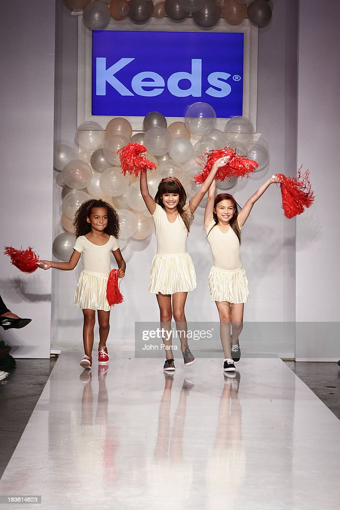 A model walk the runway at the KEDS preview during the Stride Rite Show at the petiteParade NY Kids Fashion Week in Collaboration with VOGUEbambini at Industria Superstudio on October 6, 2013 in New York City.