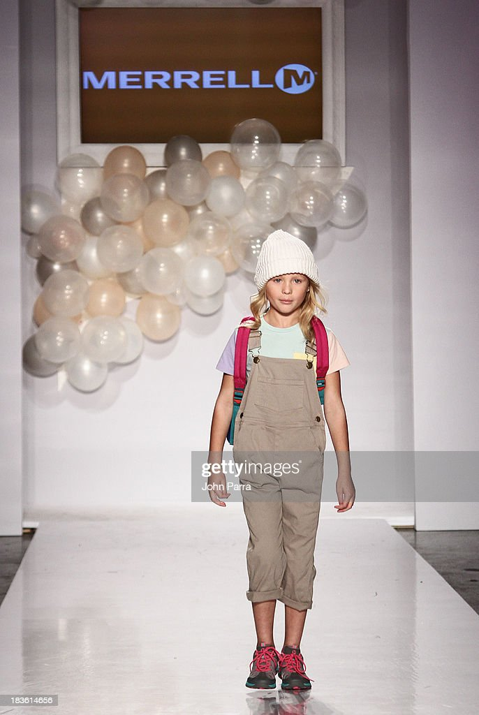 A model walk the runway at the Merrell preview during the Stride Rite Show at petiteParade NY Kids Fashion Week in Collaboration with VOGUEbambini at Industria Superstudio on October 6, 2013 in New York City.