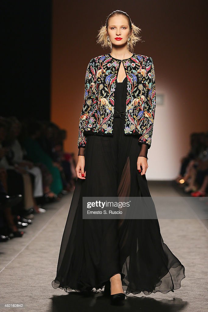 Model walk the runway during Curiel Couture F/W 20142015 Italian Haute Couture colletion fashion show as part of AltaRoma AltaModa Fashion Week at...