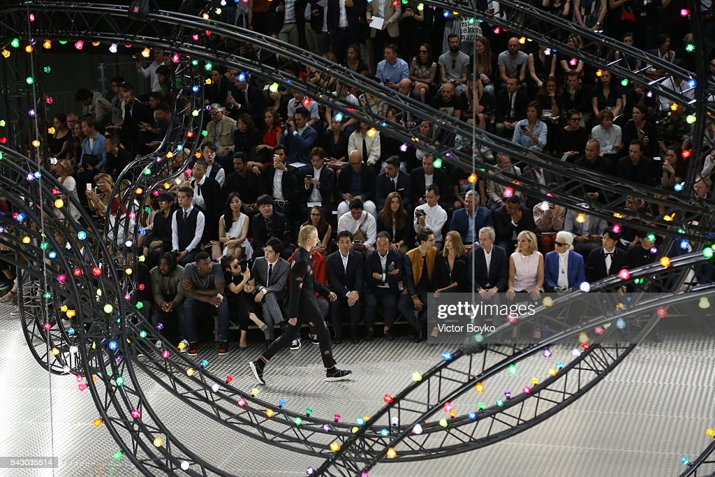Model walk the runway during the Dior Homme Menswear Spring/Summer 2017 show as part of Paris Fashion Week on June 25, 2016 in Paris, France.