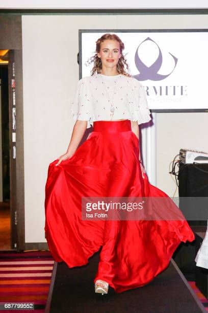 A model walkd the runway during the Kempinski Fashion Dinner on May 23 2017 in Munich Germany
