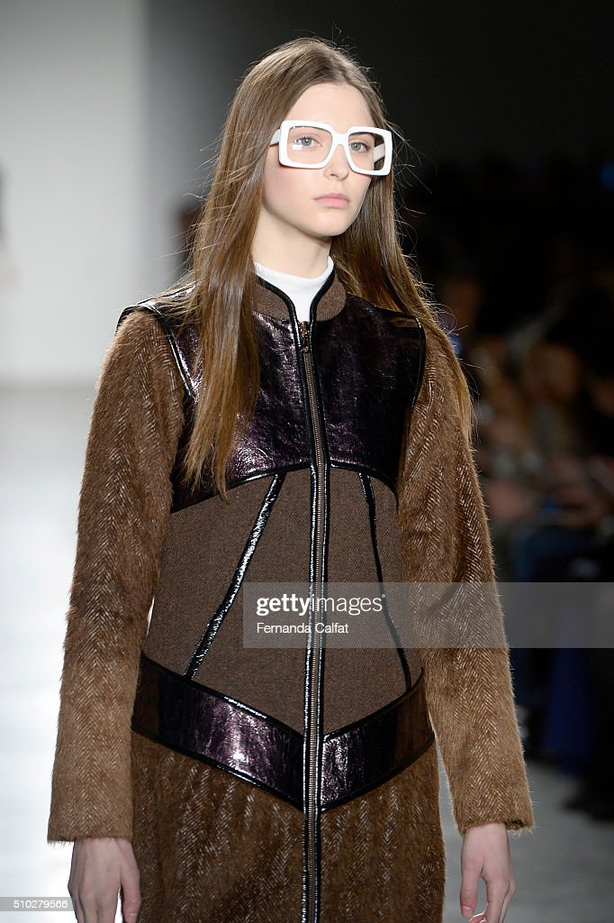 A model walks at Custo Barcelona Runway Fall 2016 at New York Fashion Week at Pier 59 Studios on February 14, 2016 in New York City.