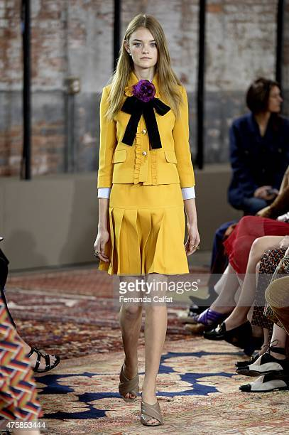 A model walks at Gucci Cruise 2016 at Dia Art Foundation on June 4 2015 in New York City