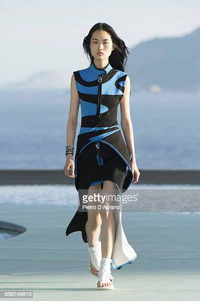 A model walks at Louis Vuitton 2017 Cruise Collection at MAC on May 28 2016 in Niteroi Brazil
