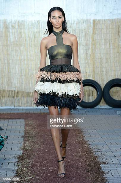 A model walks at Sophie Theallet runway Spring 2016 at MADE Fashion Week at Shop Studios on September 15 2015 in New York City