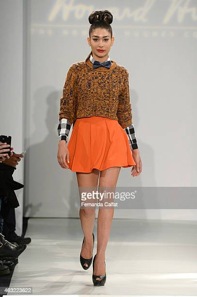 A model walks at the Argyleculture By Russell Simmons X ModaBox Runway at MercedesBenz Fashion Week Fall 2015on February 11 2015 in New York City