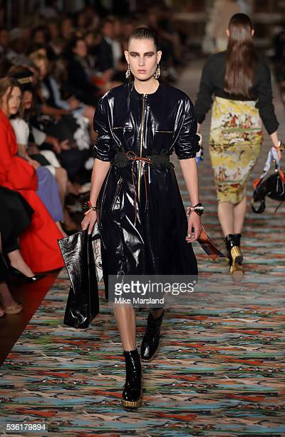 Model walks at the Christian Dior spring summer 2017 cruise collection at Blenheim Palace on May 31 2016 in Woodstock England