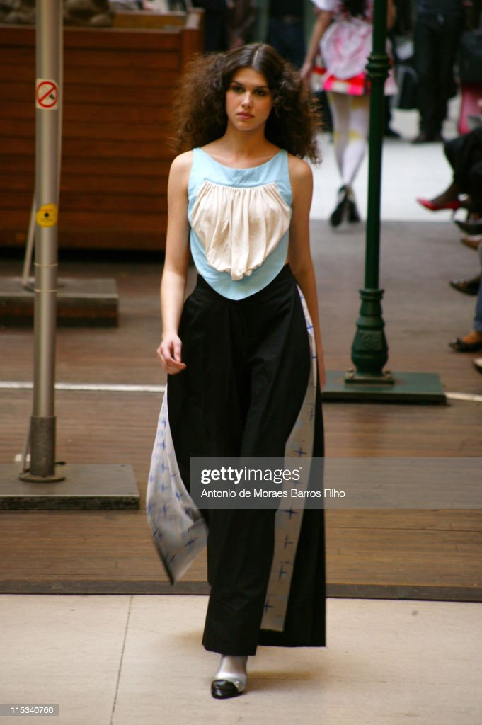 A Model walks down the catwalk during the Impasse De La Defense PretaPorter show as part of Paris Fashion Week Spring/Summer 2008 September 29 2007...