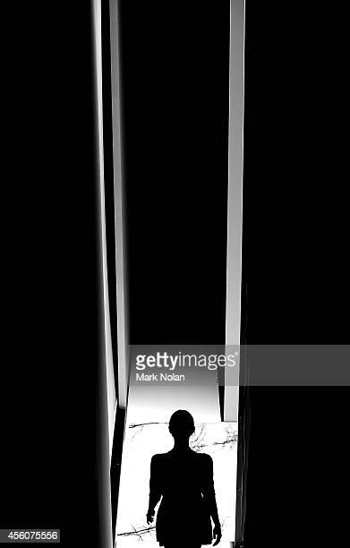 A model walks from backstage to the runway at MercedesBenz Fashion Festival Sydney at Sydney Town Hall on September 25 2014 in Sydney Australia