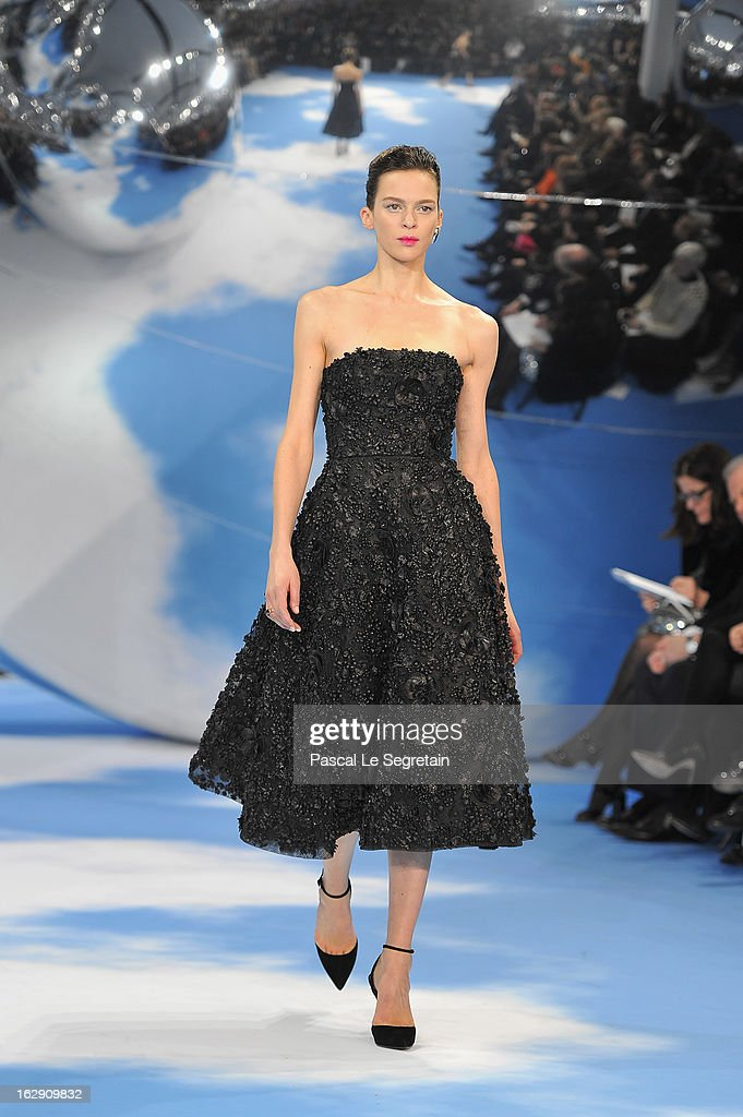 A model walks on the catwalk during Christian Dior Fall/Winter 2013 Ready-to-Wear show as part of Paris Fashion Week on March 1, 2013 in Paris, France.