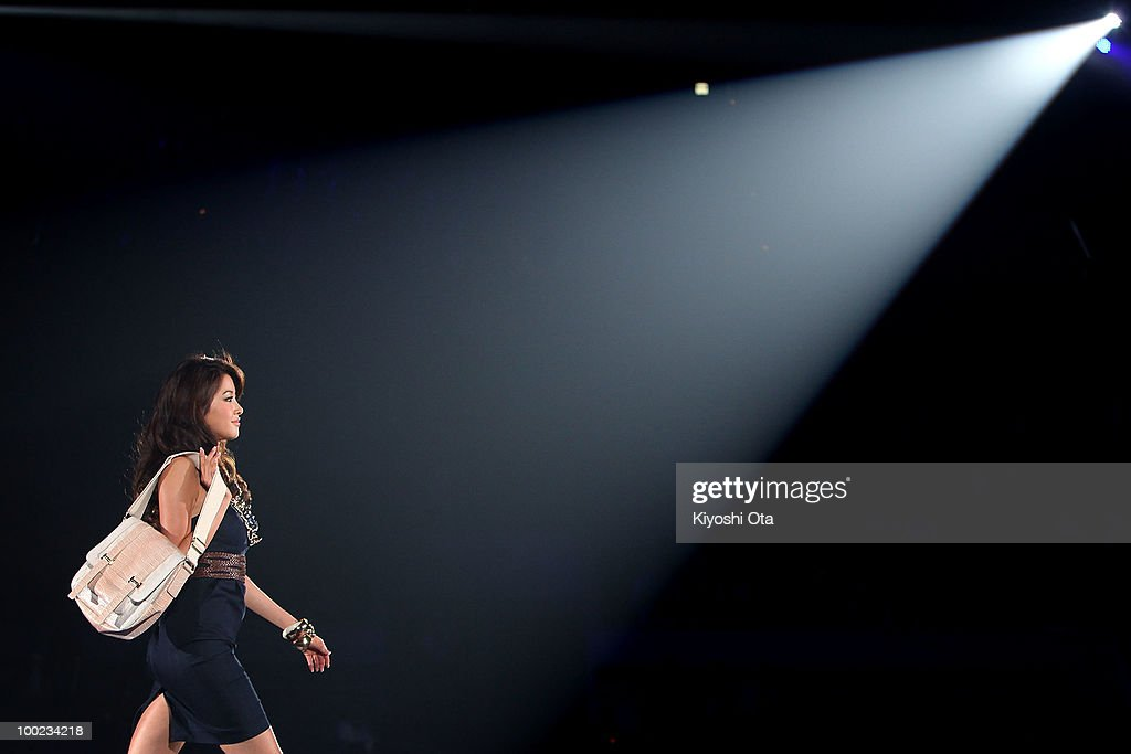 A model walks on the runway during the Girls Award 2010 at Yoyogi National Gymnasium on May 22, 2010 in Tokyo, Japan.