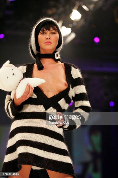 A model walks the catwalk during the Mtv Designerama On Stage 2005 Fashion Show in Berlin