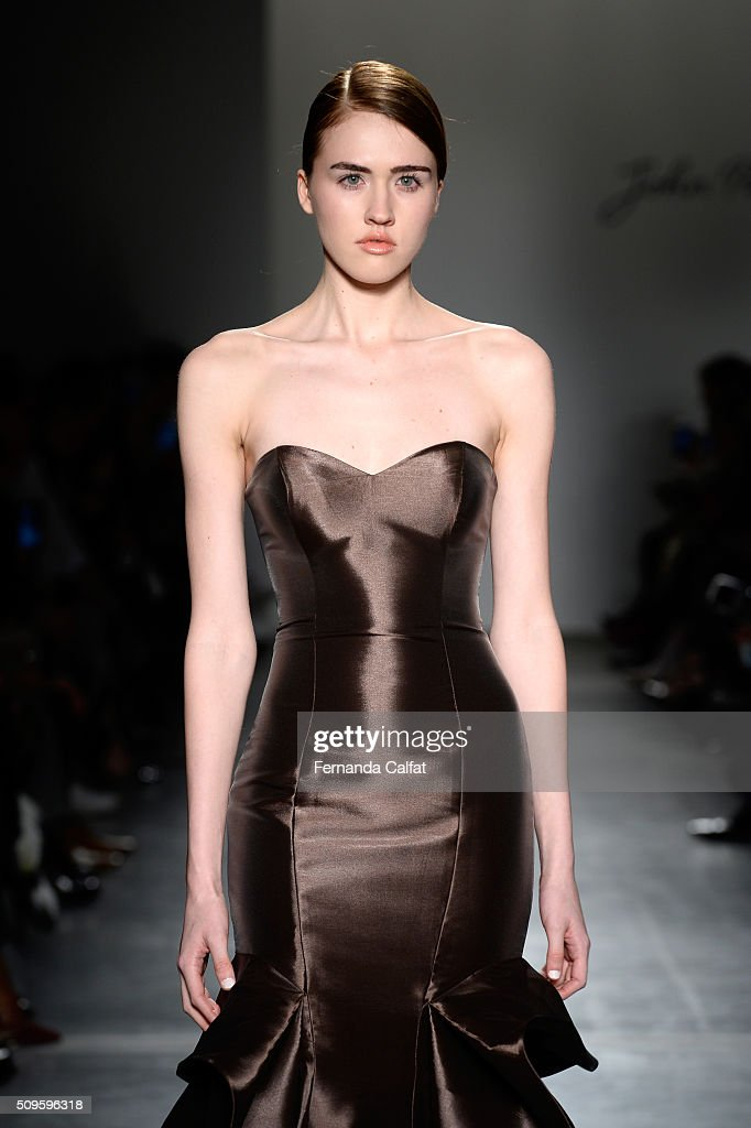 A model walks the John Paul Ataker - Runway at Pier 59 on February 11, 2016 in New York City.