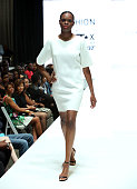 A model walks the Macy's red carpet inspired fashion show during the 2015 BET Experience on June 27 2015 in Los Angeles California