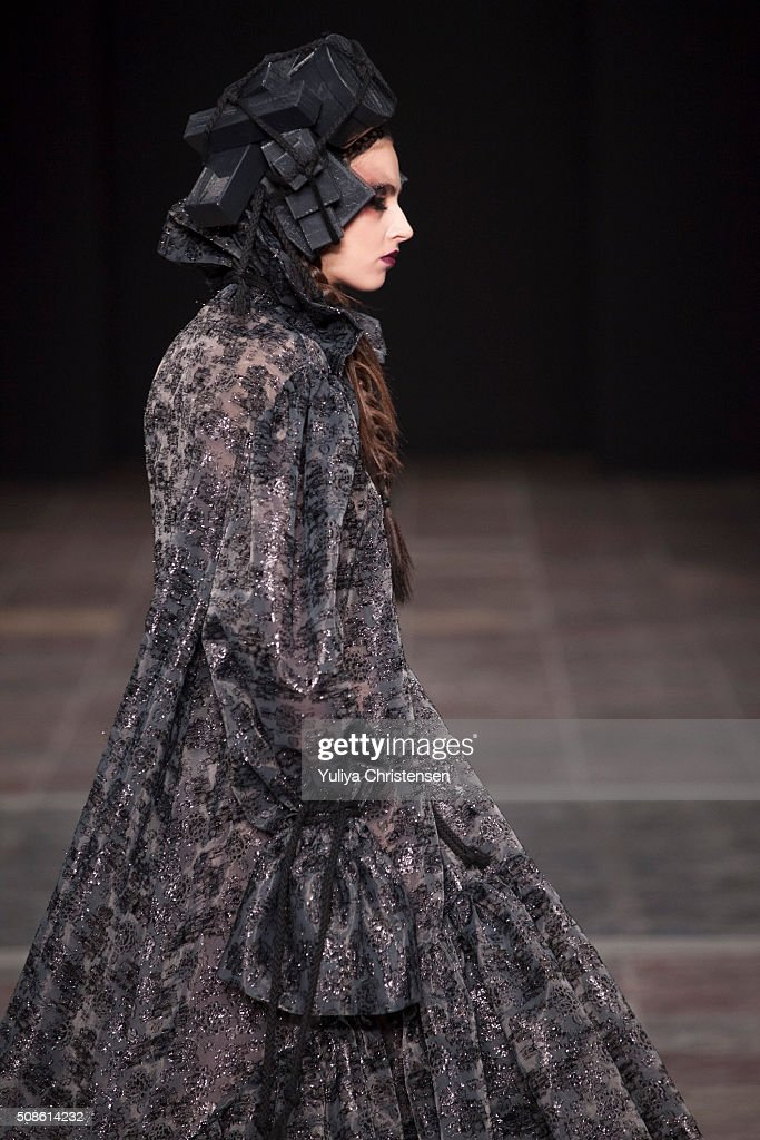A model walks the run way at the Nicholas Nybro show during the Copenhagen Fashion Week Autumn/Winter 2016 on February 5, 2016 in Copenhagen, Denmark.