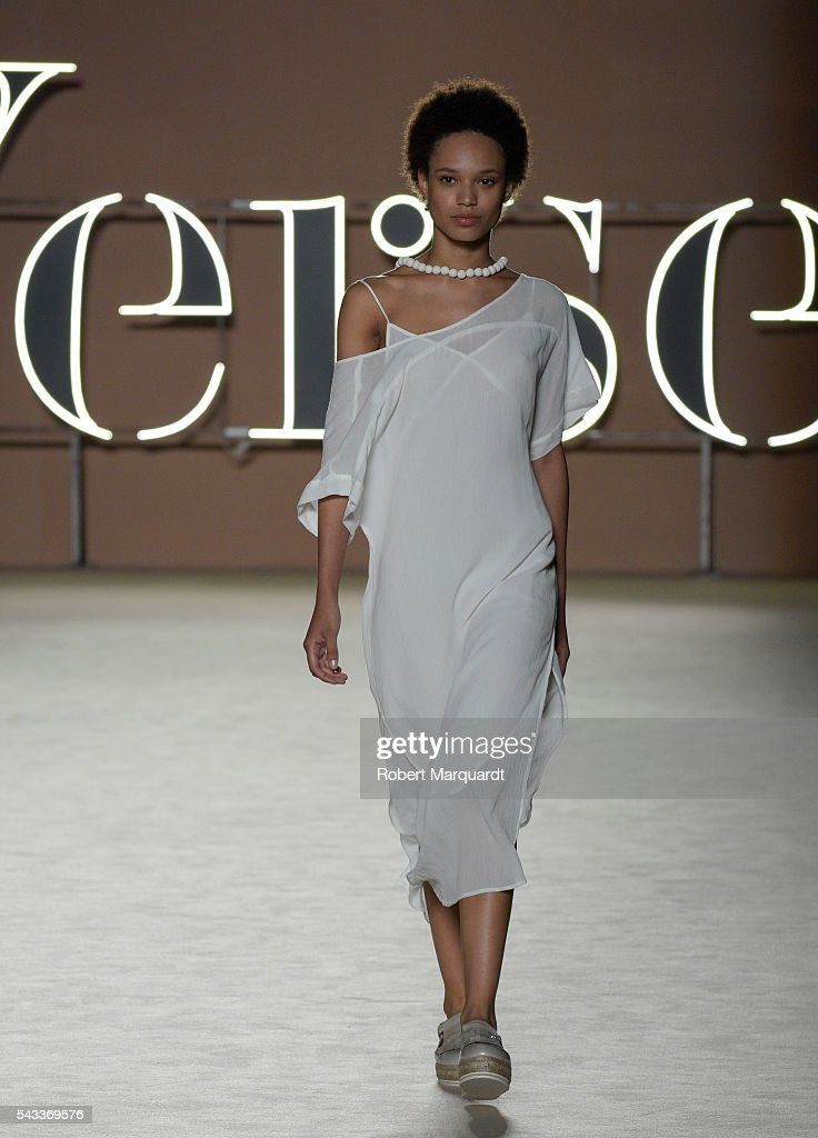 A model walks the runaway at the Yerse show during the Barcelona 080 Fashion Week Spring/Summer 2017 at the INFEC on June 27, 2016 in Barcelona, Spain.