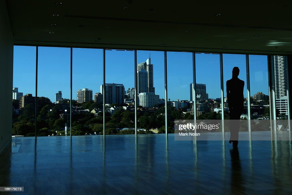 A model walks the runway ahead of the Lisa Ho show during MercedesBenz Fashion Week Australia Spring/Summer 2013/14 at Hughes Gallery on April 10...