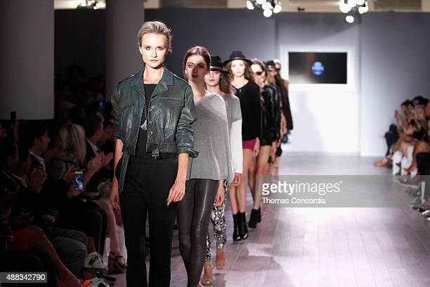 A model walks the runway as KIA STYLE360 Hosts Serena Williams Signature Collection By HSN on September 15 2015 in New York City