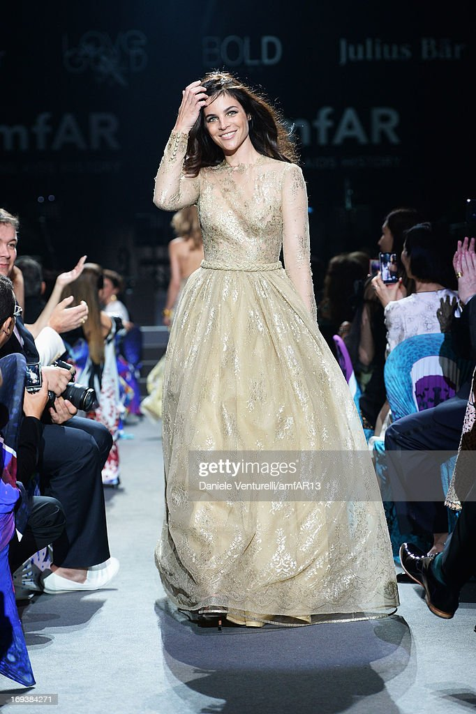 A model walks the runway as part of amfAR's 20th Annual Cinema Against AIDS during The 66th Annual Cannes Film Festival at Hotel du Cap-Eden-Roc on May 23, 2013 in Cap d'Antibes, France.