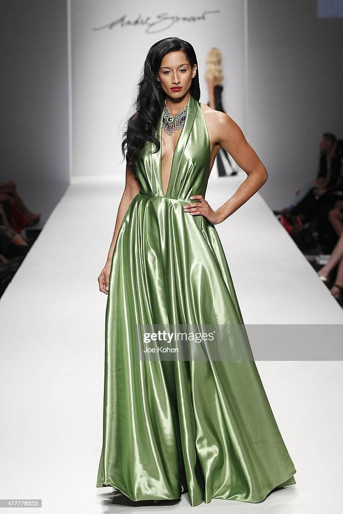 A model walks the runway at Andre Soriano fashion show during Style Fashion Week at L.A. Live Event Deck on March 10, 2014 in Los Angeles, California.