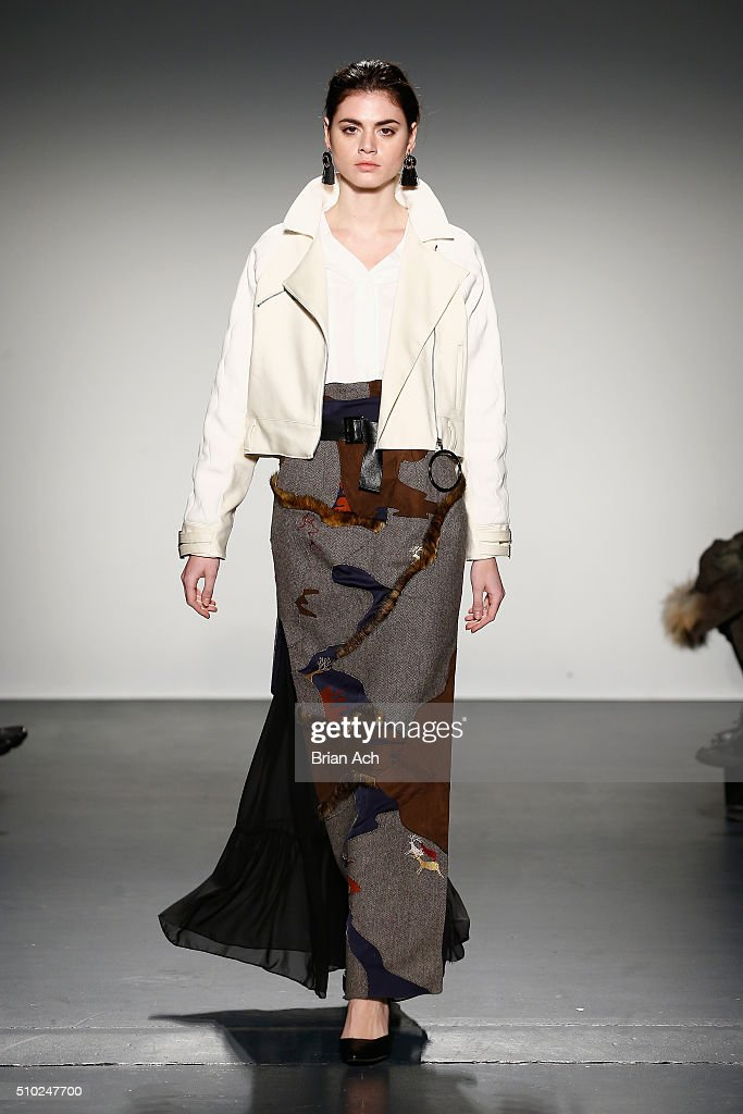 A model walks the runway at Asia Fashion Collection Fall / Winter 2016 at Pier 59 Studios on February 14, 2016 in New York City.