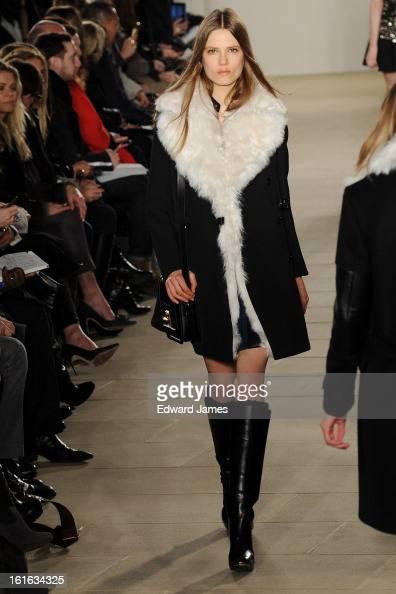 A model walks the runway at Belstaff during Fall 2013 MercedesBenz Fashion Week at IAC Headquarters on February 11 2013 in New York City
